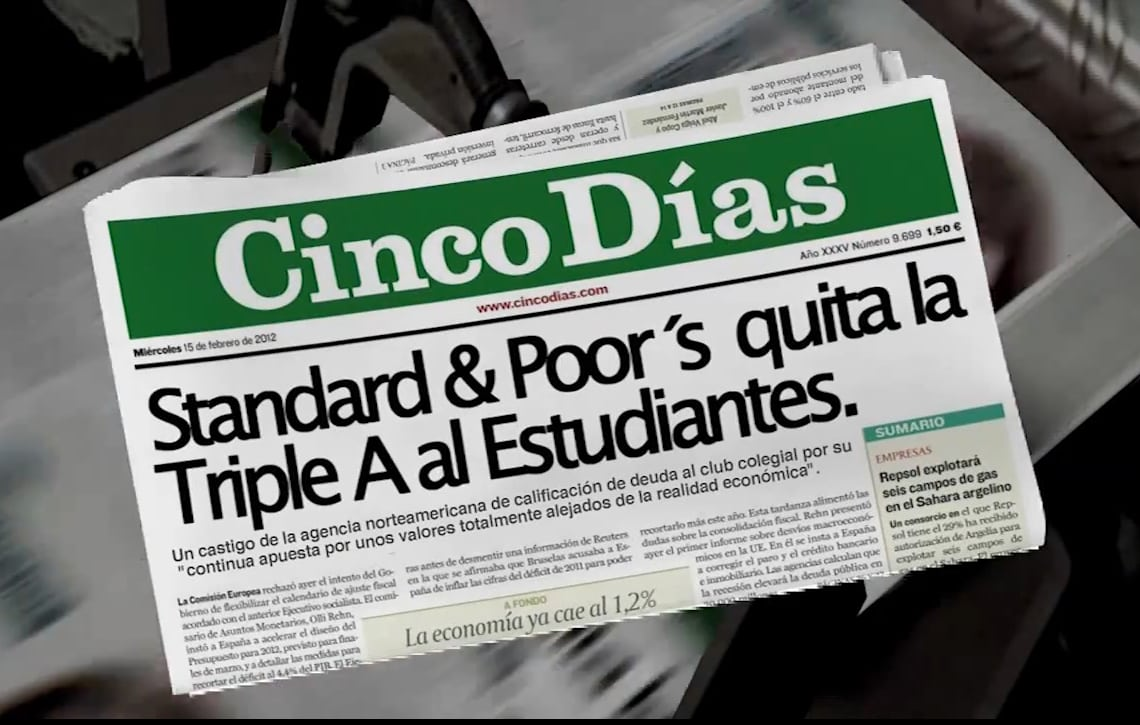 "Standard & Poor´s quita la ""Triple A"" a Asefa Estudiantes (VIDEO)"