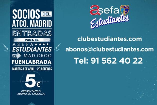 Entradas a 5 euros para socios del Atlético