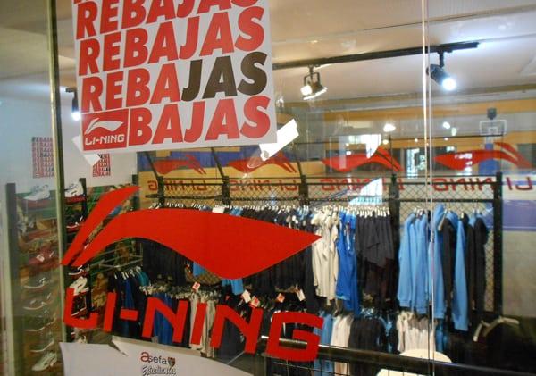 50% en los productos oficiales Li-Ning en la tienda oficial