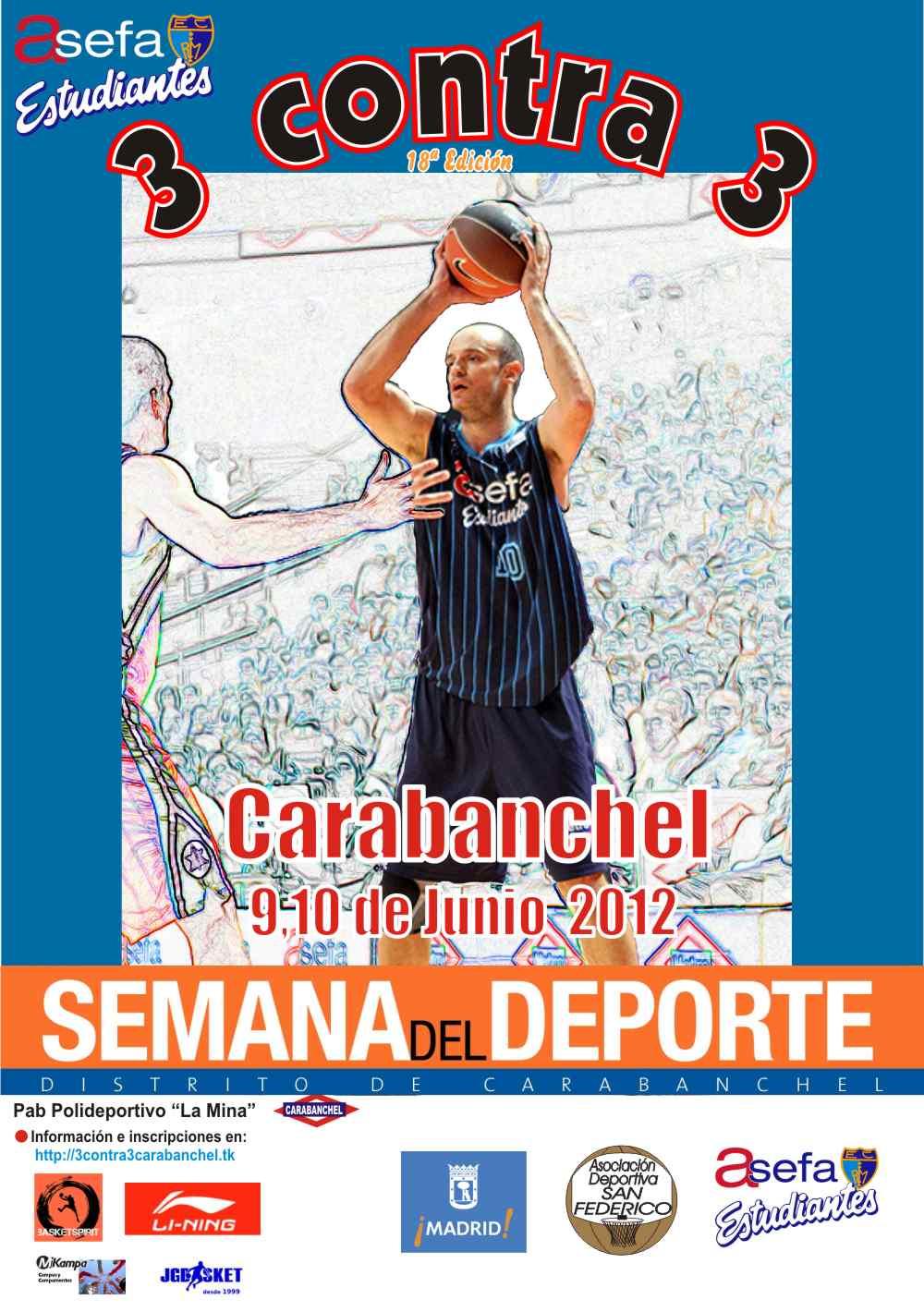 18º  Torneo 3×3 de Carabanchel, con el apoyo de Asefa Estudiantes