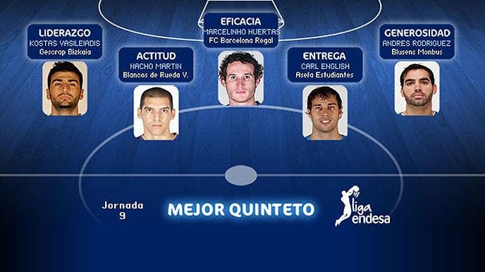 English, MVP y en el Quinteto de la jornada 9