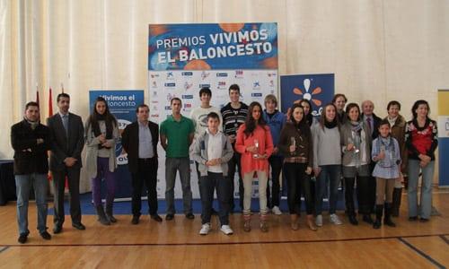 """Siete estudiantiles, premiados en """"Vivimos el Baloncesto"""""""