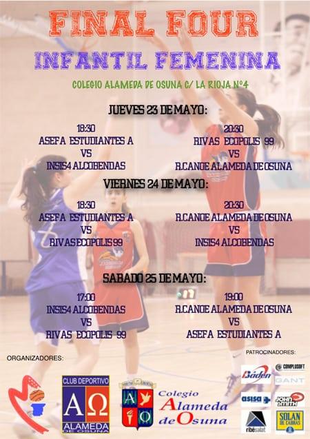 Fases Finales de Madrid Infantiles: las chicas se proclaman Subcampeonas de Madrid y los chicos terceros