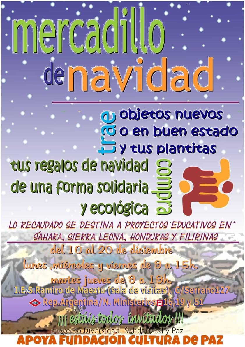 El Mercadillo Solidario en el Ramiro de Maeztu, desde el 10 de diciembre