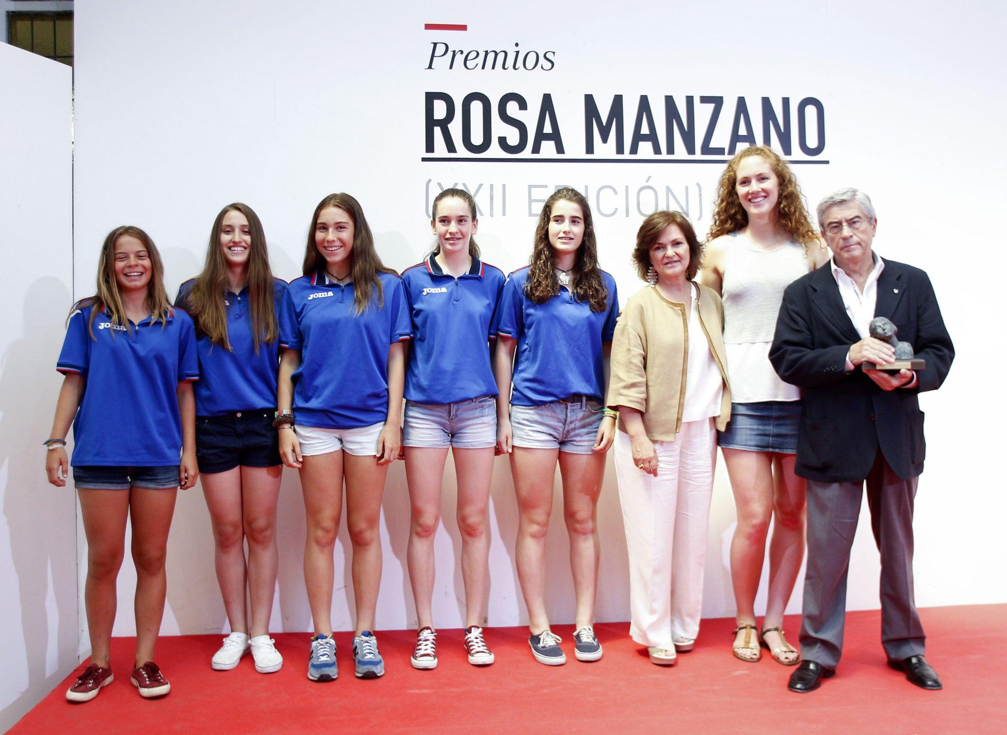 La cantera femenina de Movistar Estudiantes, reconocida en los Premios Rosa Manzano de igualdad junto a las selecciones de baloncesto y fútbol y el Levante UD