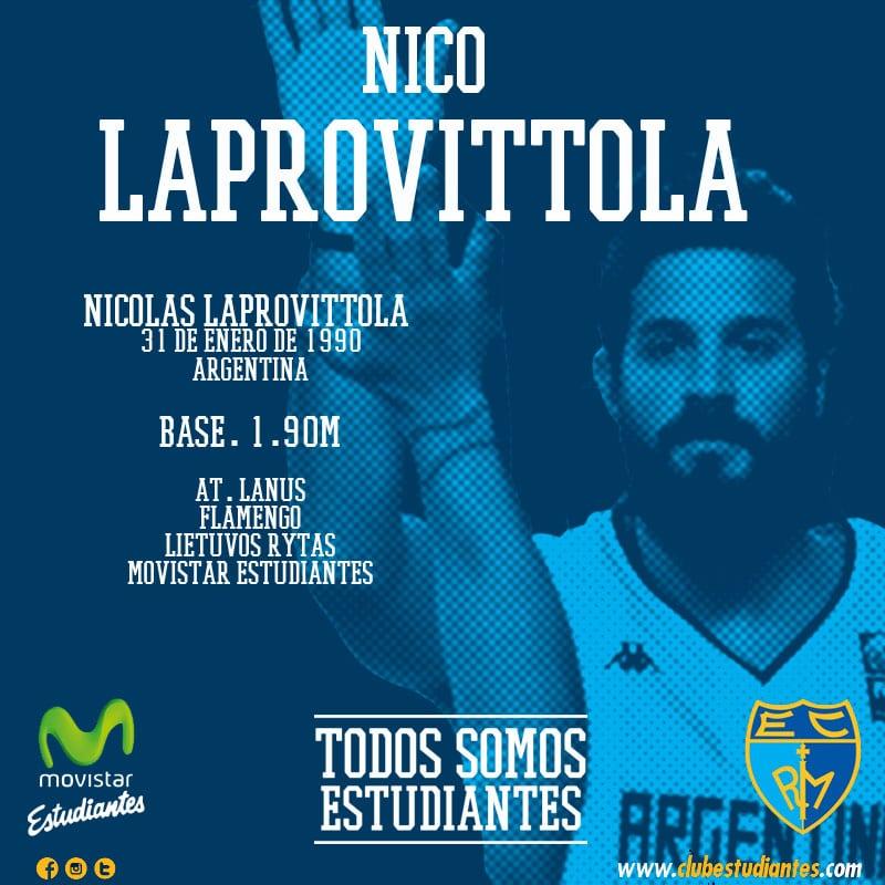 El base argentino Nicolás Laprovittola, nuevo jugador de Movistar Estudiantes
