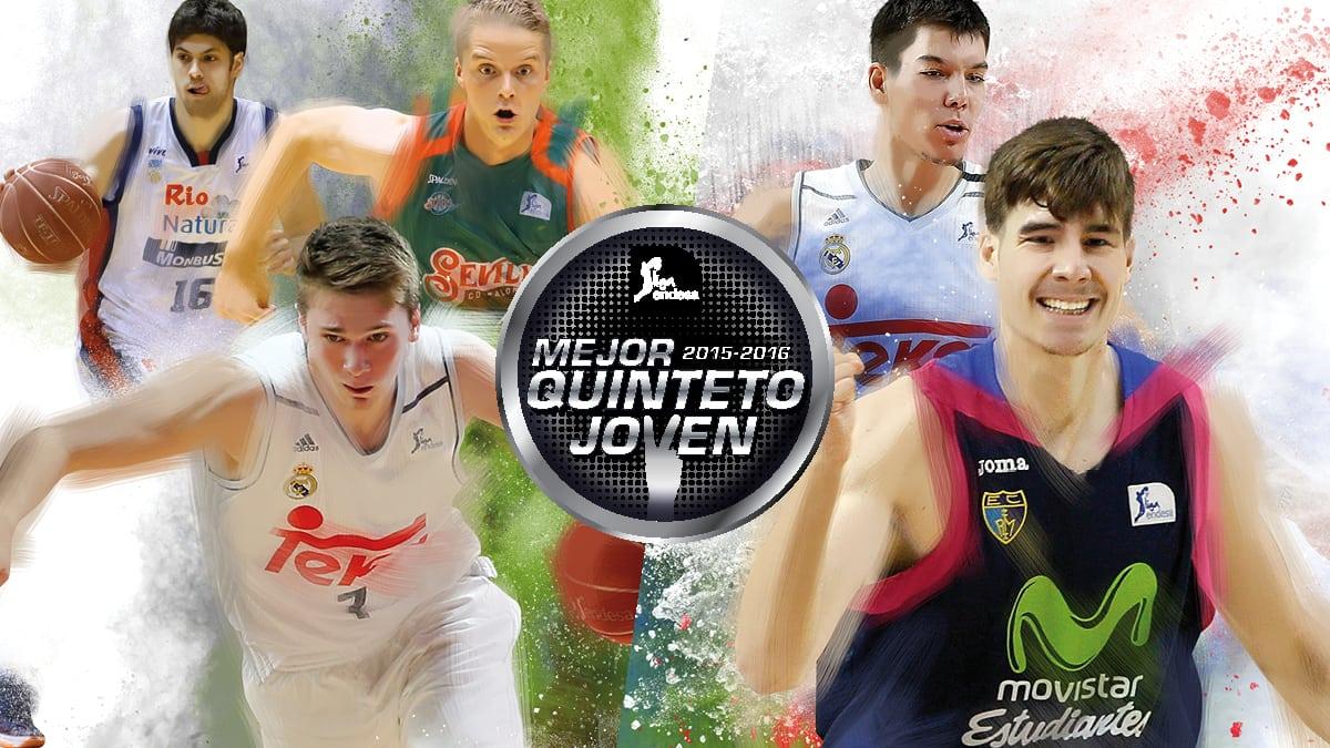 Mejor Quinteto Joven de la Liga Endesa 2015-16, con Juancho Hernangómez