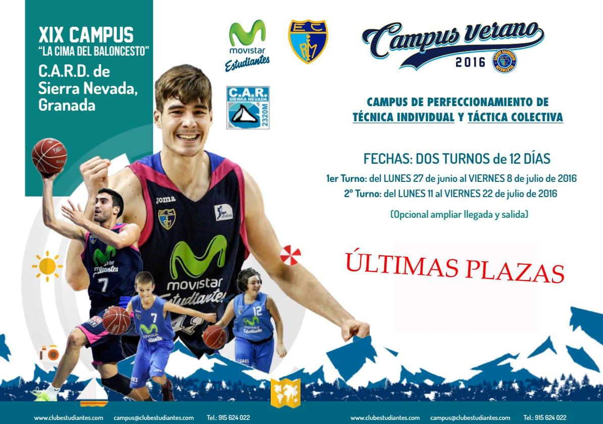 """¡Últimas cuatro plazas en el Campus """"La Cima del baloncesto"""" en Sierra Nevada!"""
