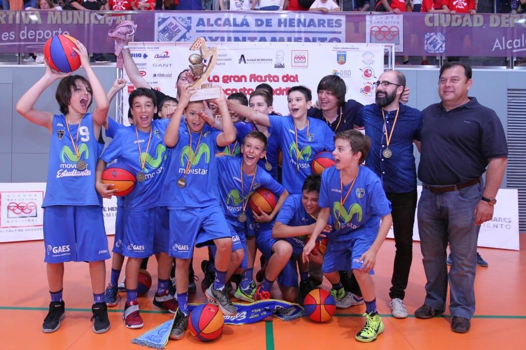 Movistar Estudiantes triunfa en el Día del Mini de la FBM: ¡el Alevín Thomas se proclama campeón!