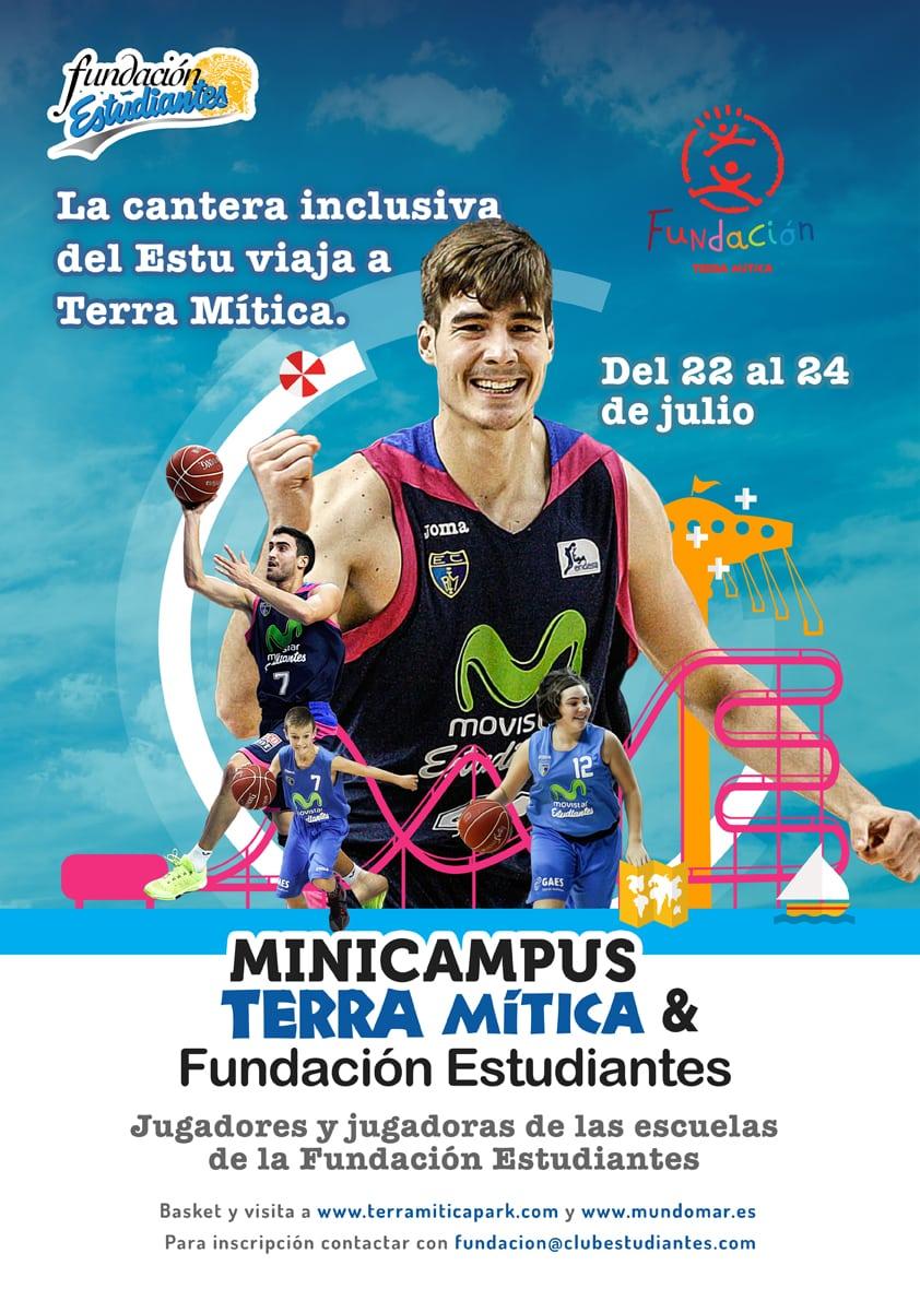 Completo el Minicampus de la cantera inclusiva de Movistar Estudiantes de Fundación Estudiantes y Fundación Terra Mítica