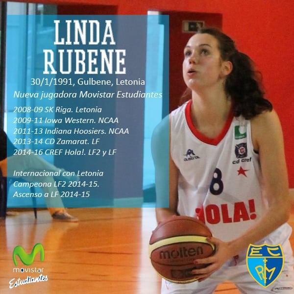 Linda Rubene, experiencia en LF para Movistar Estudiantes