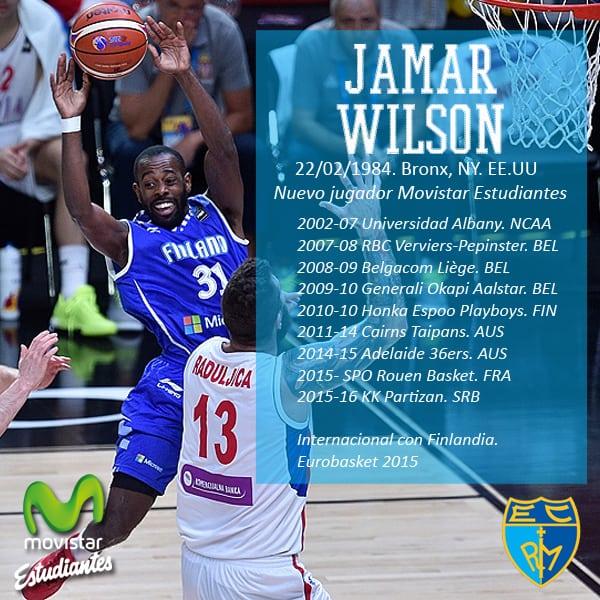 Jamar Wilson, base internacional con Finlandia, primer fichaje de Movistar Estudiantes