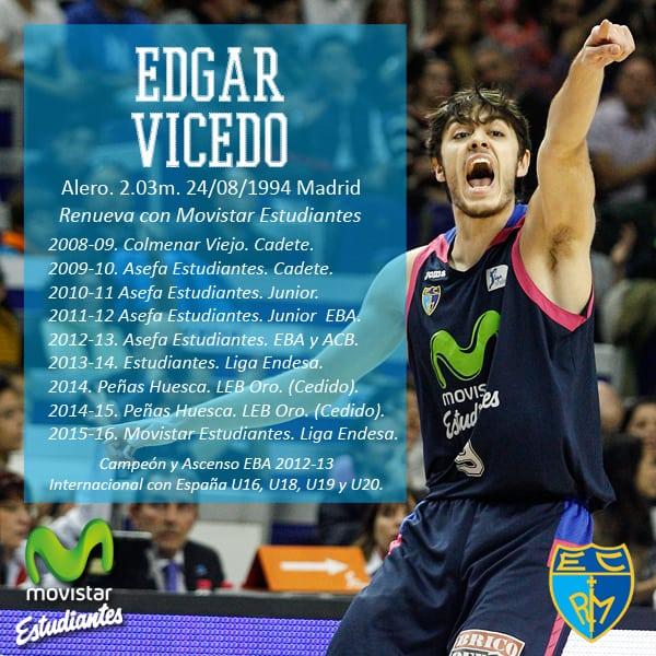 Edgar Vicedo renueva con Movistar Estudiantes por dos temporadas