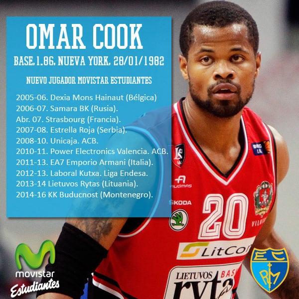 Omar Cook completa la dirección de juego de Movistar Estudiantes