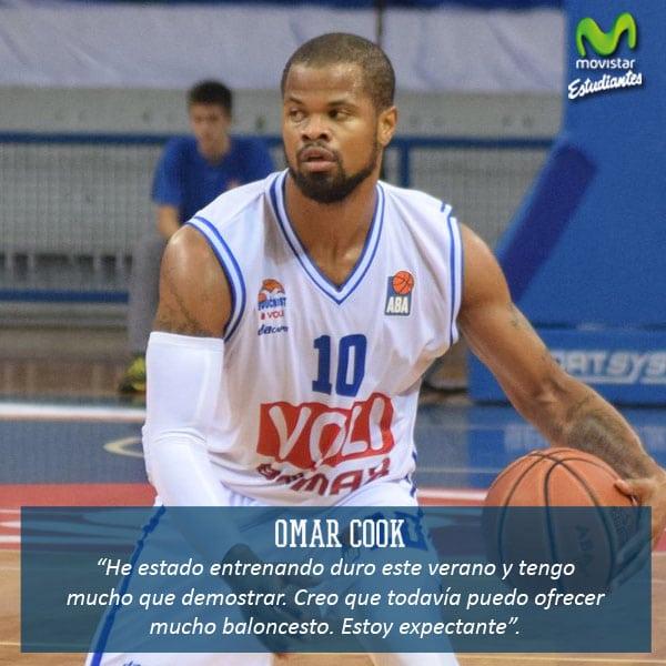 """Omar Cook: """"Todavía tengo mucho que demostrar""""."""