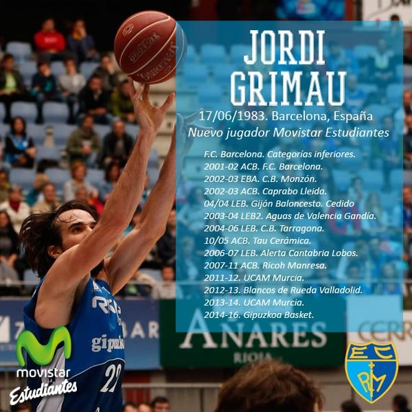 Jordi Grimau, experiencia en Liga Endesa para Movistar Estudiantes