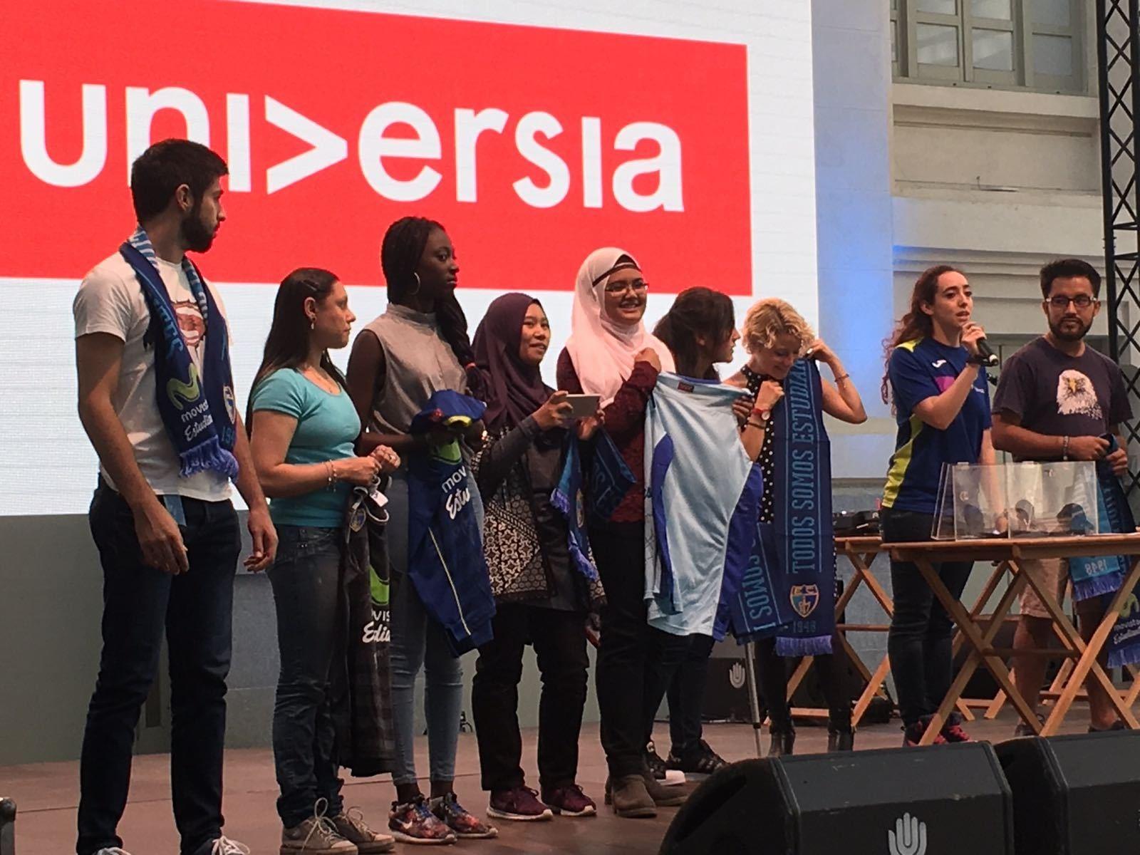 Movistar Estudiantes, en la bienvenida a los 4000 estudiantes internacionales matriculados este curso en Madrid