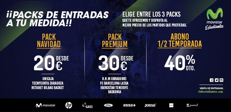 Packs de entradas y Abono de media temporada ¡desde 20€!