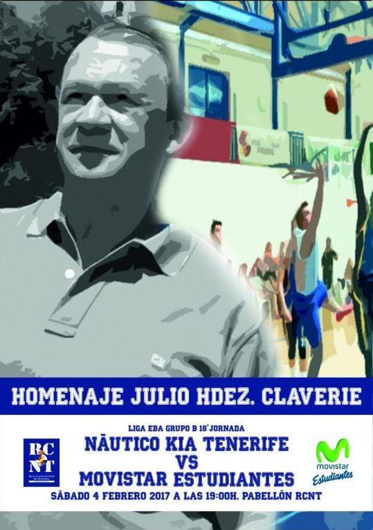 EBA: Visita a uno de los grandes, con homenaje póstumo a la figura de Julio Hernández Claverie (sábado, 19h hora insular)