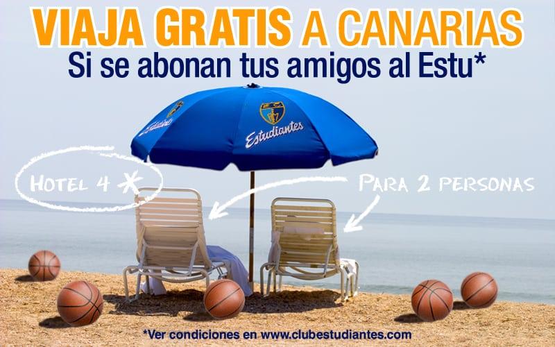 Abona a tus amigos y viaja con el Estu a Gran Canaria