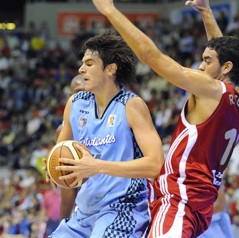 Carlos Suárez, en la presentación de la liga ACB