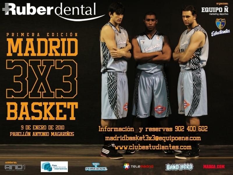 Casi mil personas participarán en el Madrid 3×3 Ruber Dental