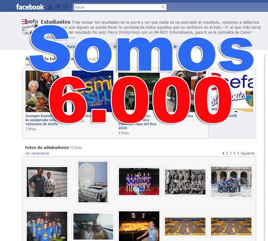 Ya somos más de 6.000 en Facebook
