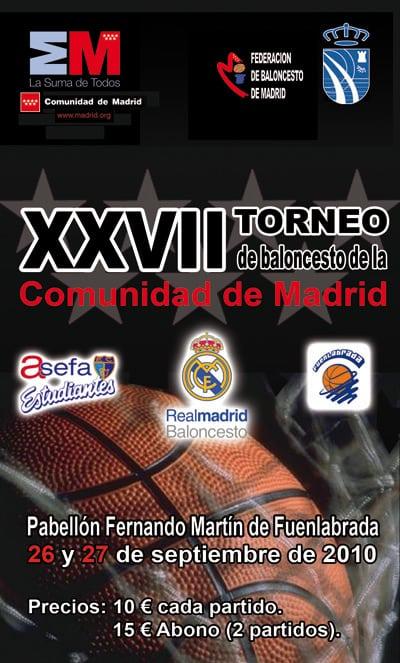 """Torneo CAM: 26 sept. contra """"Fuenla"""" y vale el derbi de la jornada 1 de ACB"""