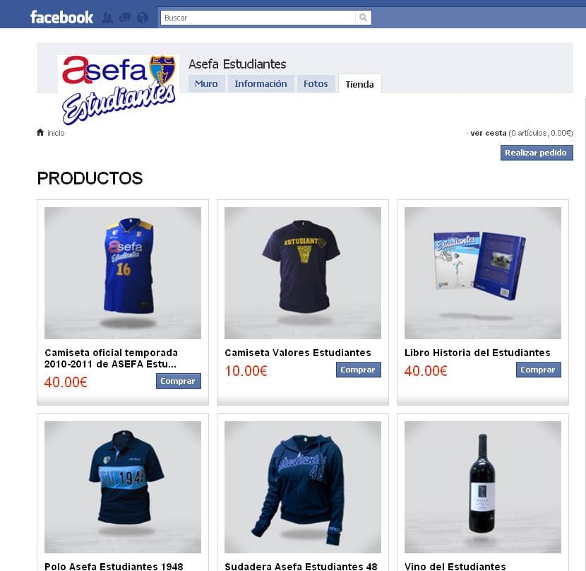 La tienda de Asefa Estudiantes ¡también en Facebook!