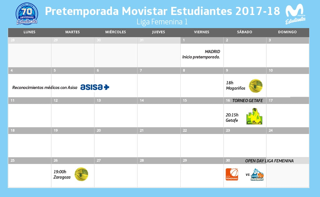 "Las fechas clave de la pretemporada de las ""women in black"" de Movistar Estudiantes"