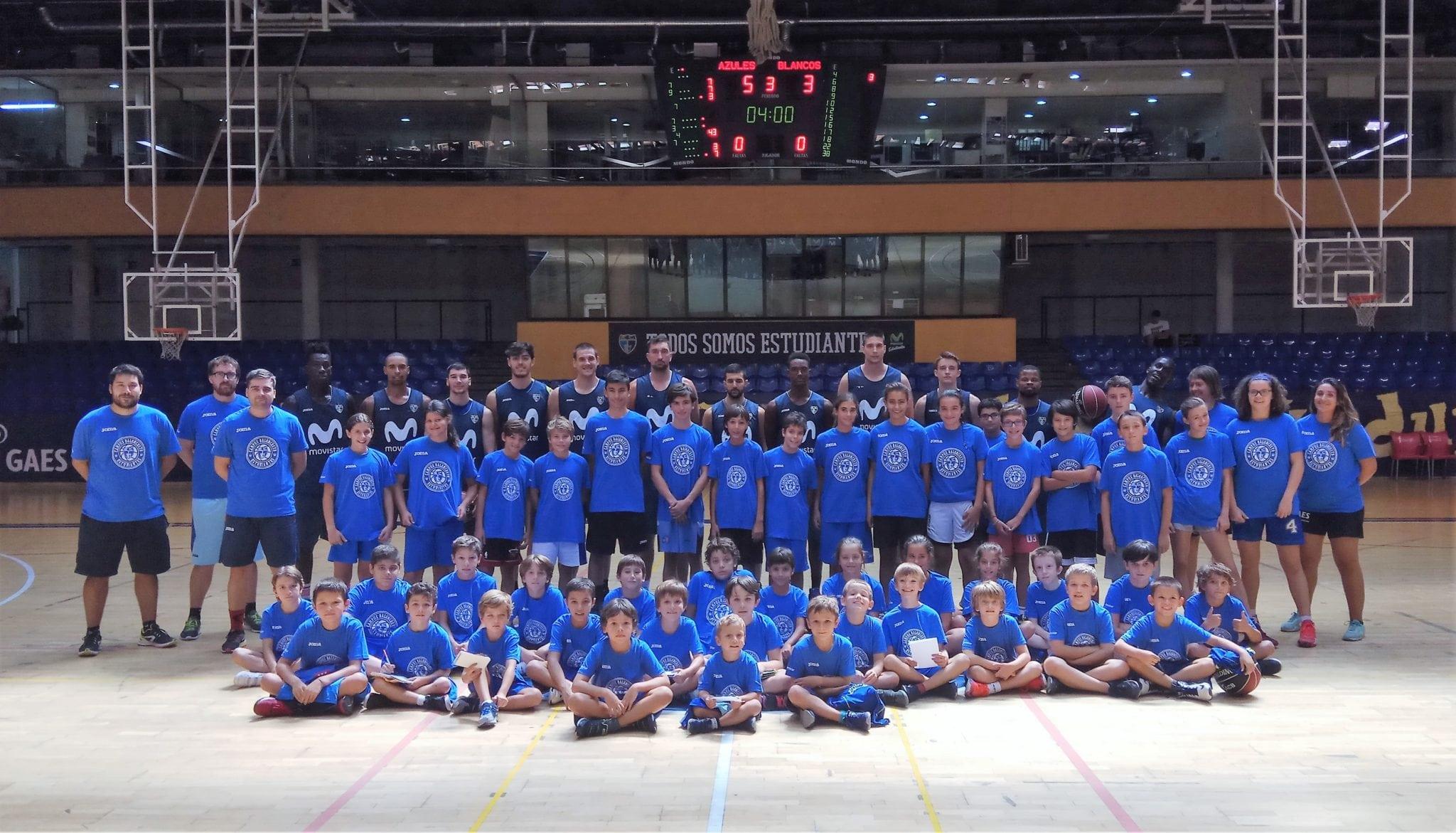 Primera semana del IV Campus Comienza el Baloncesto: vuelta al Magariños y convivencia con el primer equipo