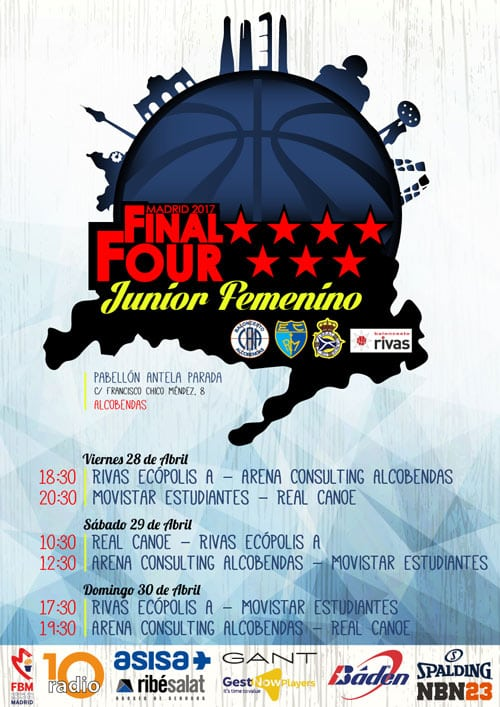 Fase Final Junior Femenina de Madrid, 28 a 30 de abril, Alcobendas