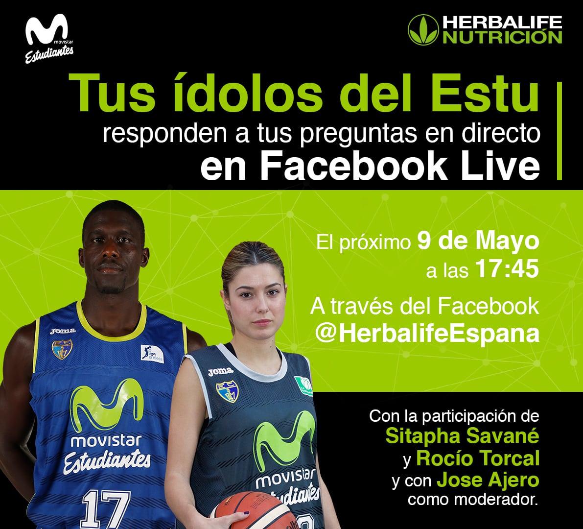 Herbalife presenta el Facebook Live con Sitapha Savane y Rocío Torcal el martes 9 a las 17:45h
