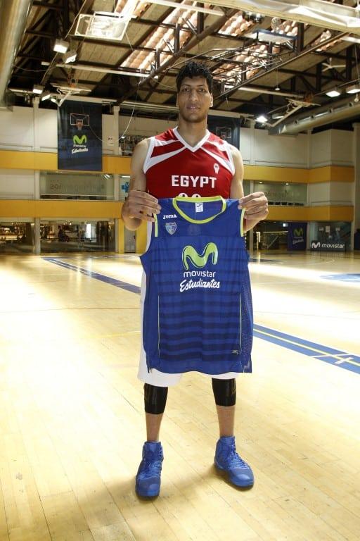 El internacional egipcio Hamad Fathi, de 2.29 metros, a prueba con Movistar Estudiantes