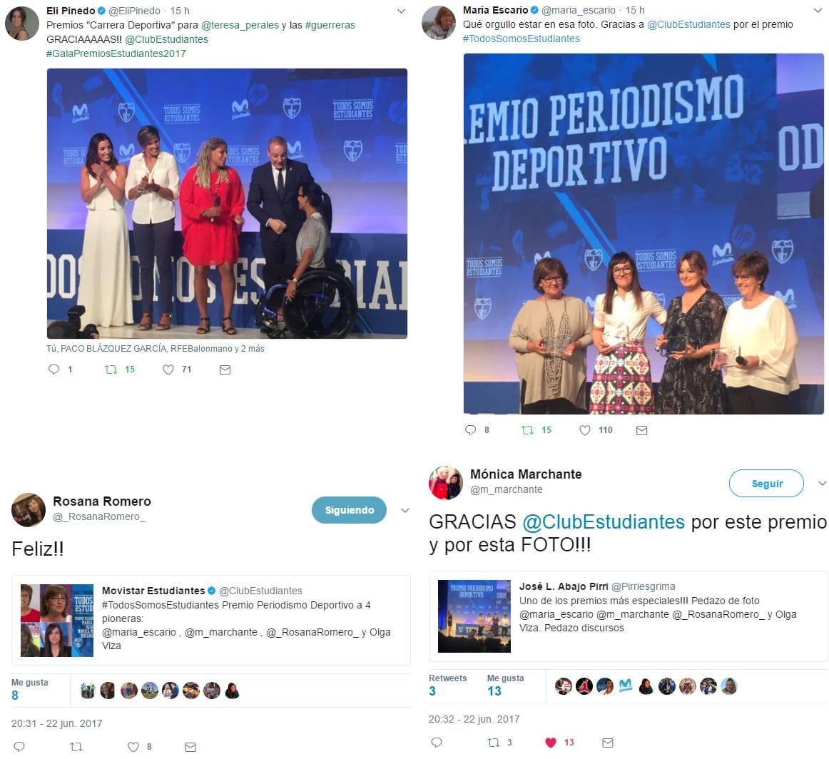 Reacciones al éxito de la III Gala Todos Somos Estudiantes, este año en femenino