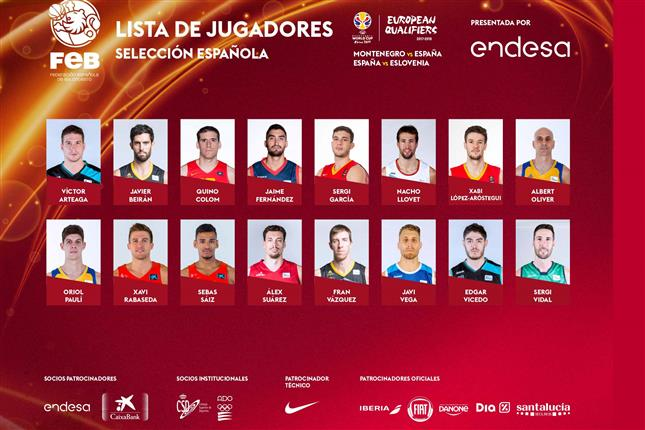 Ventanas FIBA: Vicedo y Arteaga con España, Peña con Dominicana y Hakanson con Suecia