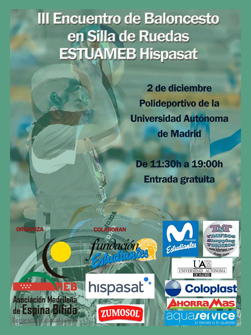 III Encuentro de baloncesto en silla de ruedas ESTUAMEB Hispasat, 2 de diciembre