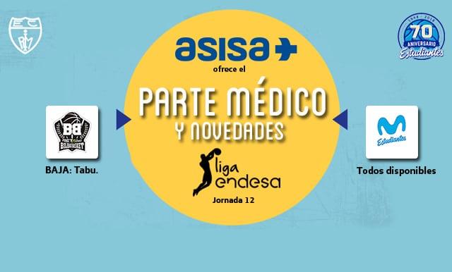 Asisa ofrece el parte médico del Retabet Bilbao – Movistar Estudiantes