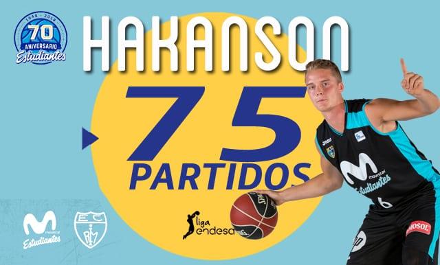Ludde Hakanson cumplirá 75 partidos en Liga Endesa
