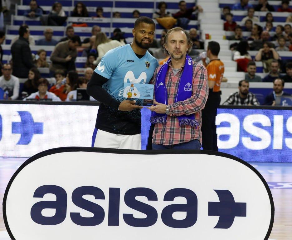 Omar Cook, reconocido por Asisa como «Jugador más saludable 2017»