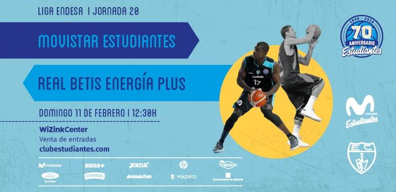 Movistar Estudiantes- Real Betis EP: desde 10 euros. Descuento 20% abonados