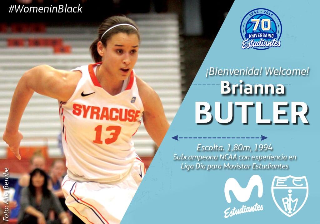 Llega Brianna Butler, toda una subcampeona de NCAA