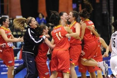 U19F: España tumba a Canadá y avanza a semifinales (55-69)