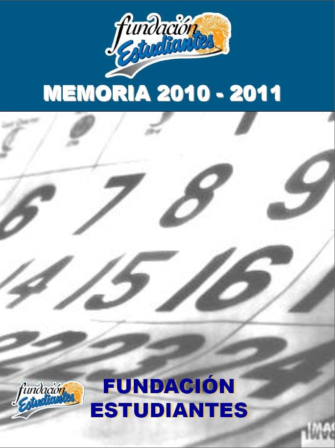 Fundación Estudiantes. Memoria 2010-11
