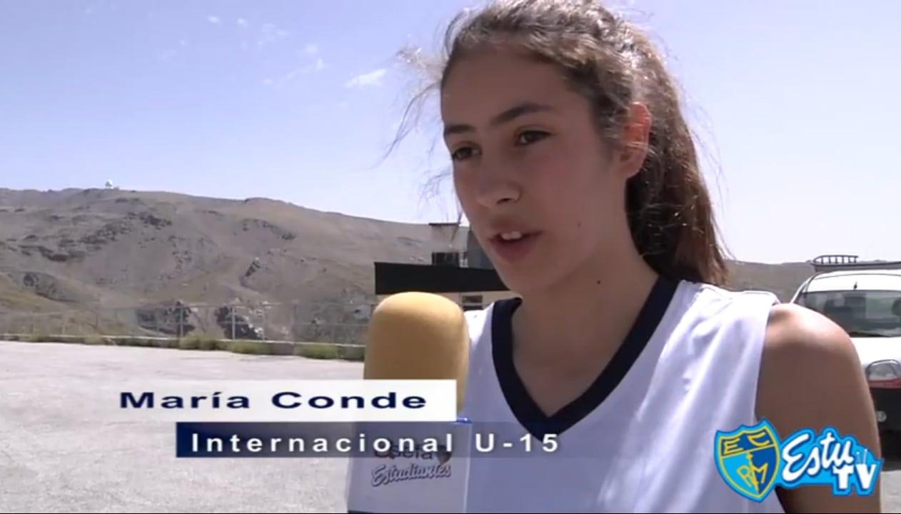 Primeros amistosos con España U16 para María Conde este fin de semana