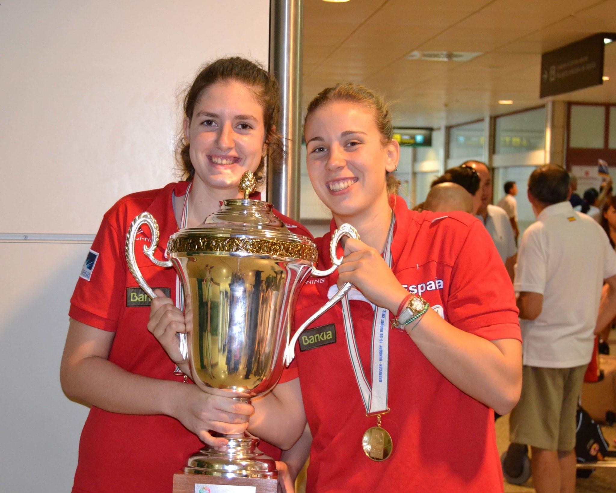 Sarah Rodríguez y Elena de Alfredo, en la preselección española U20