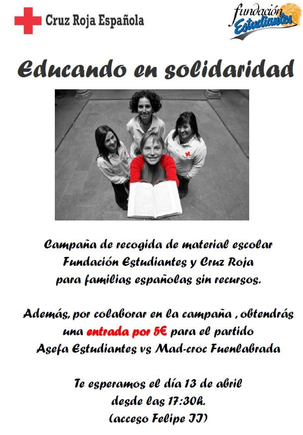 Derbi solidario: 5€ + pack material escolar = una entrada