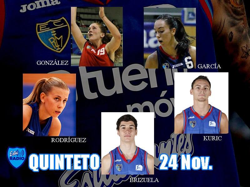 5º Quinteto EstuRadio: Brizuela, Kuric, Rodríguez, García y González