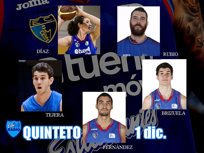 6º Quinteto EstuRadio: Fernández, Brizuela, Tejera, Rubio y Díaz