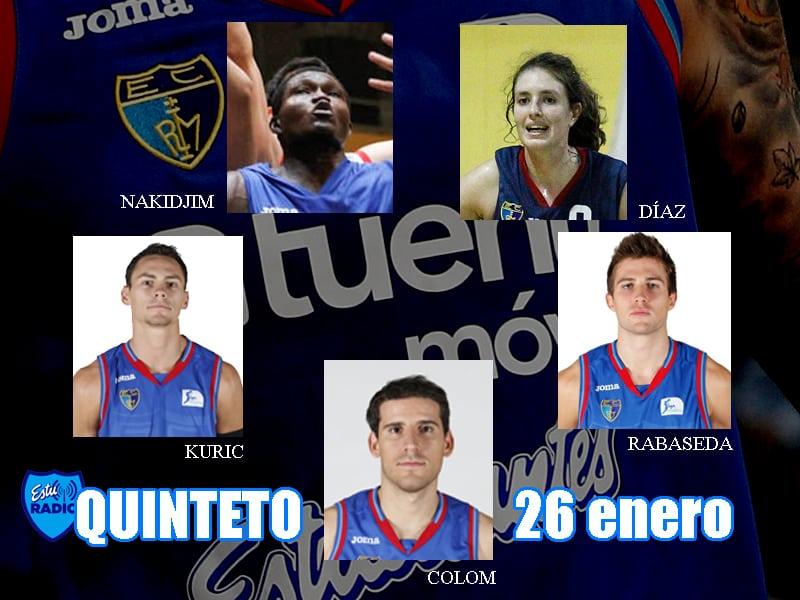 11º Quinteto EstuRadio: Colom, Kuric, Rabaseda, Díaz y Nakidjim
